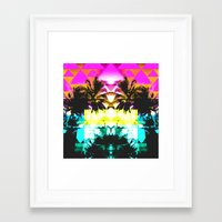 hawaiian Framed Art Prints featuring Hawaiian Quilt by The Digital Weaver
