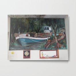 Barco en el muelle Metal Print