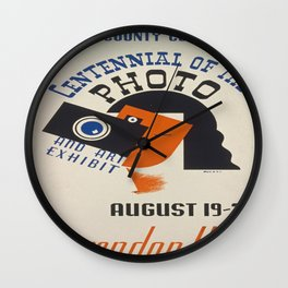 Vintage poster - Centennial of the Photo Wall Clock