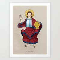 messi Art Prints featuring Messi by Lawerta