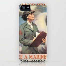 Vintage poster - Be a Marine iPhone Case