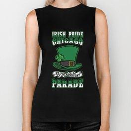 Irish Pride Chicago St. Patricks Day Parade Top Hat Biker Tank