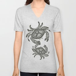 Dancing Crabs Unisex V-Neck