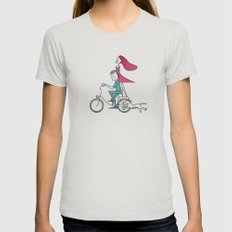 Faster than the wind Silver Womens Fitted Tee MEDIUM