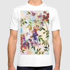 garland of flowers MEDIUM White Mens Fitted Tee
