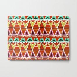TGIF Triangles Metal Print