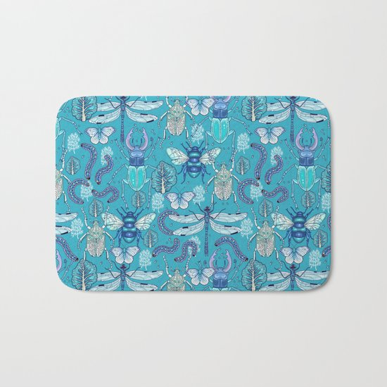 blue bugs Bath Mat