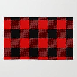 Red Lumberjack Pattern Rug