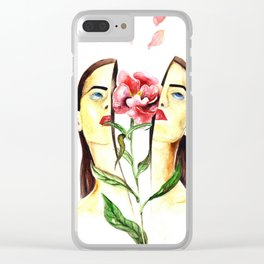 Coming Up Roses Clear iPhone Case
