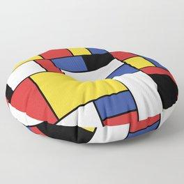 Mondrian Geometric Art Floor Pillow