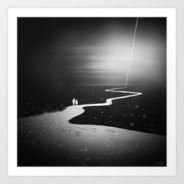 Lets Go For A Walk Art Print