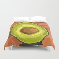 avocado Duvet Covers featuring avocado by P.A. Yingling