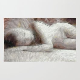 Nude Sleeping Beauty Rug
