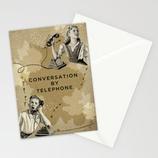 Conversation by Telephone Stationery Cards