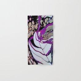 Negative Space, acrylic fluid pour art Hand & Bath Towel