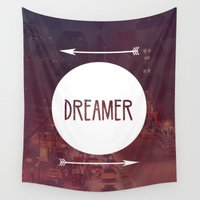 dreamer Wall Tapestries featuring Dreamer by Urban Exclaim Co.
