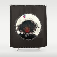 demon Shower Curtains featuring Demon by Pods