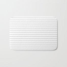 White Black Lines Minimalist Bath Mat