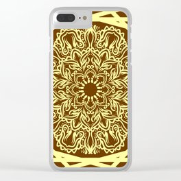 Line art mandala Clear iPhone Case
