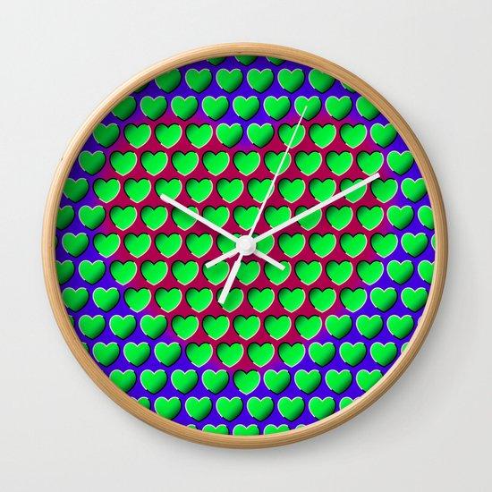 E-MOTION: Moving hearts Wall Clock