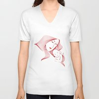 mother V-neck T-shirts featuring Mother by nitishckumar