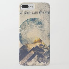 One mountain at a time iPhone Case