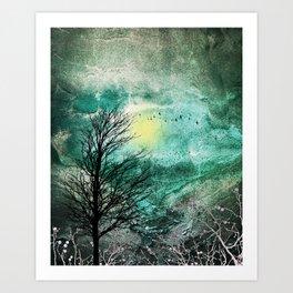 TREES under MAGIC SKY I Art Print