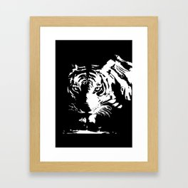 Tiger Stare Framed Art Print
