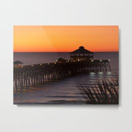 Sunset at Folly Pier  Metal Print