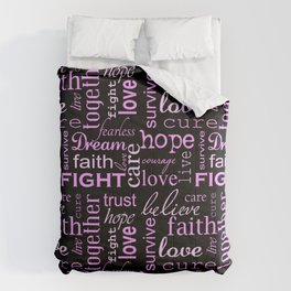 Breast Cancer - Black Comforters