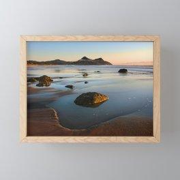 Pauanui Beach sunrise Coromandel Peninsula Framed Mini Art Print