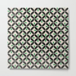Retro Mod: Leaf Metal Print