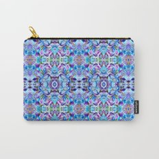 Turquoise Blue Flower Girly  Pattern Carry-All Pouch