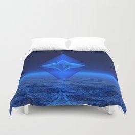 Blue Crystal Abstract Duvet Cover
