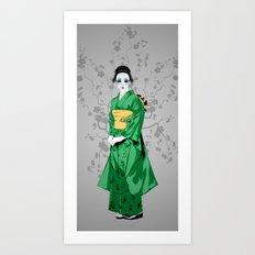 Geisha G Art Print