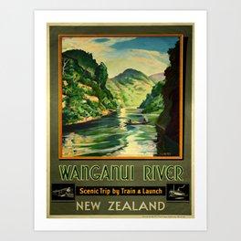 Vintage poster - Wanganui River Art Print