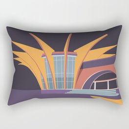 Soviet Modernism: Central bus station in Hrazdan, Armenia Rectangular Pillow