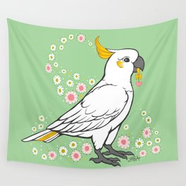 Fluffy The Sulphur Crested Cockatoo Wall Tapestry