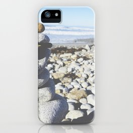mini zen beach cairn iPhone Case