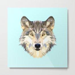 WOLF J Metal Print