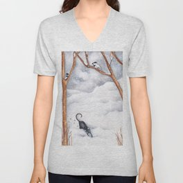Snow Day Unisex V-Neck