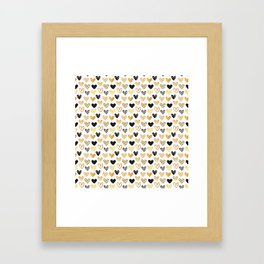 Pattern from painted hearts Framed Art Print