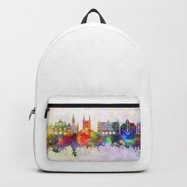 Gdansk skyline watercolor background Backpack