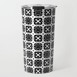 Black & White Handkerchief Pattern Travel Mug