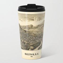 Aerial View of Walton, New York (1887) Travel Mug