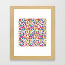 New age flower power Framed Art Print