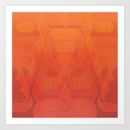 Round and About Coral Art Print