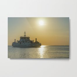 Ferry to Ameland, Holwerd - Waddenzee Metal Print