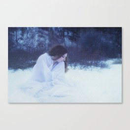 Alone in the Cold Canvas Print