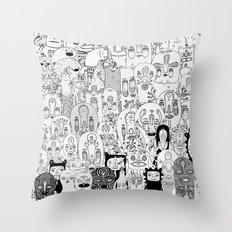 School daze Throw Pillow